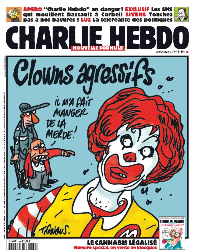Charlie Hebdo n°1168 --- 5 novembre  2014