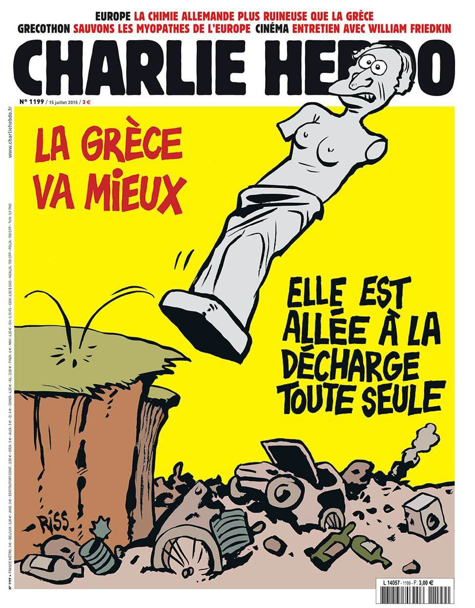 Charlie Hebdo n°1199 --- 15 juillet 2015