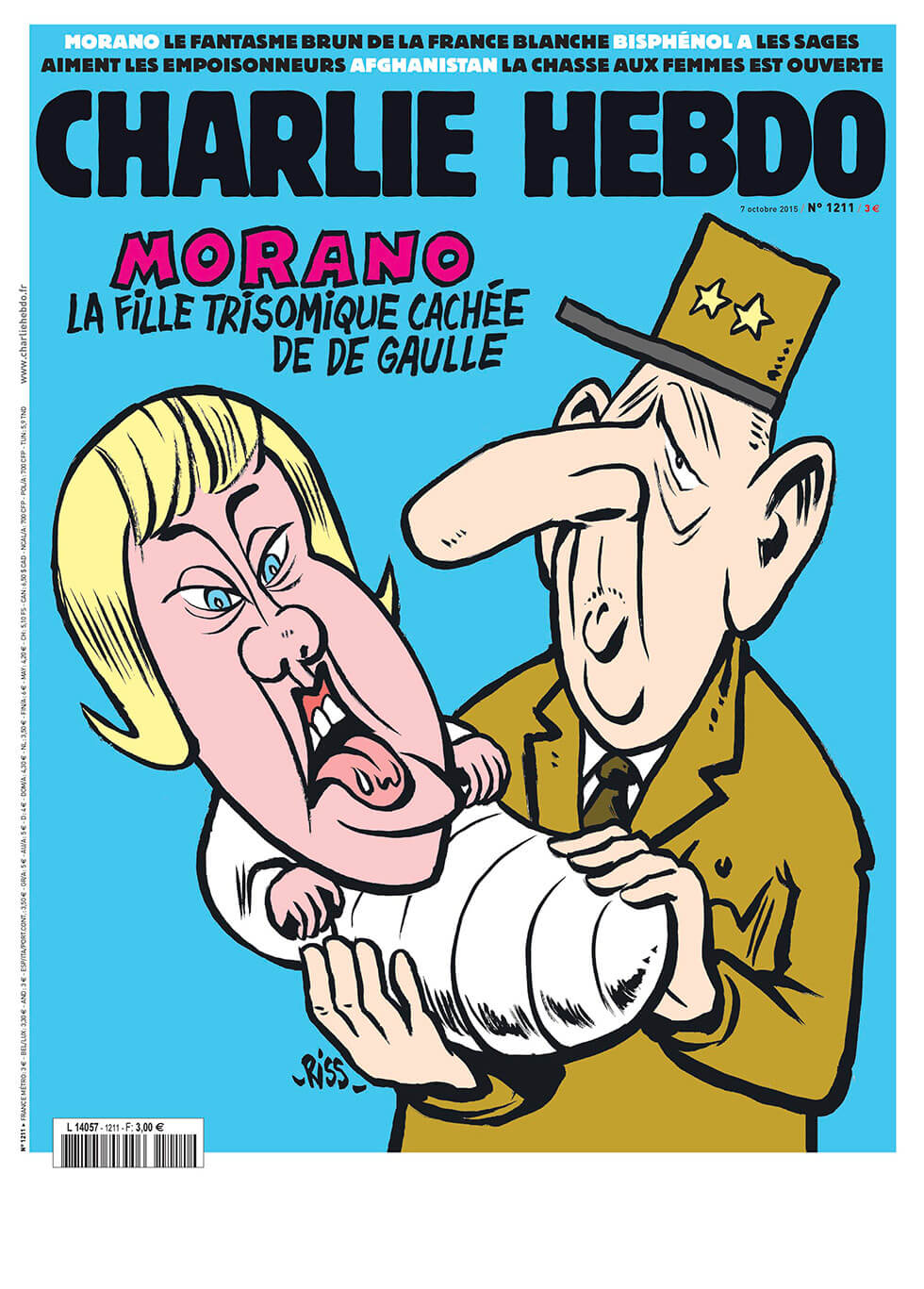 Charlie Hebdo n°1211 --- 7 octobre 2015
