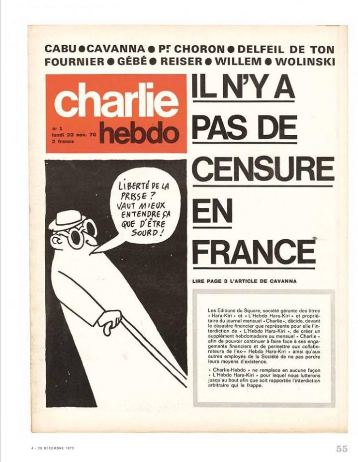 Charlie Hebdo - n°000001 --- 23 novembre 1970