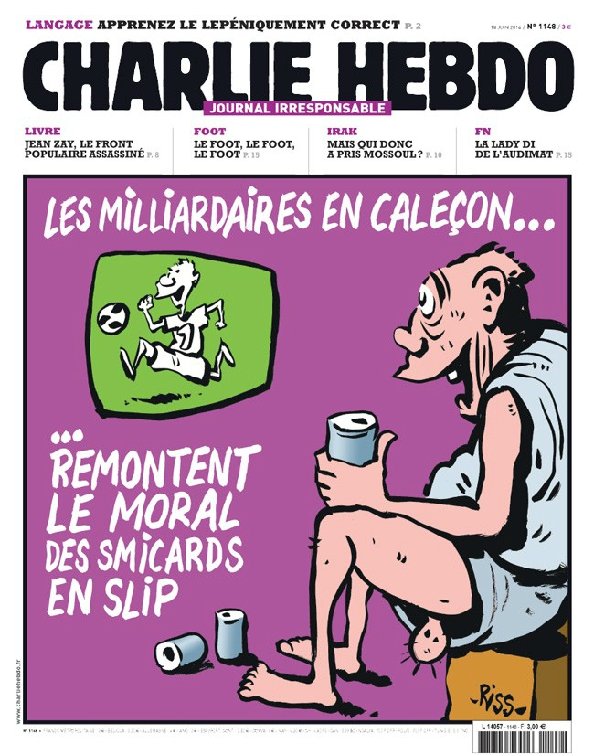 Charlie Hebdo - n°1148 - 18 juin 2014