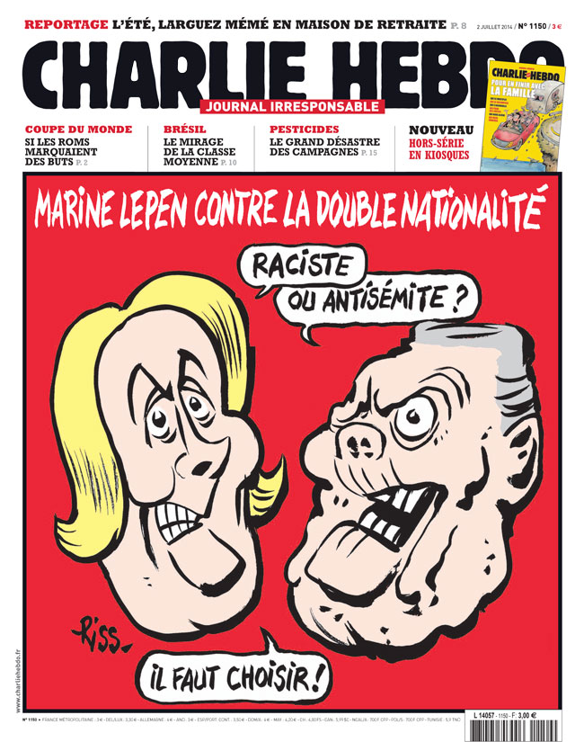 Charlie Hebdo - n°1150 - 2 juillet 2014
