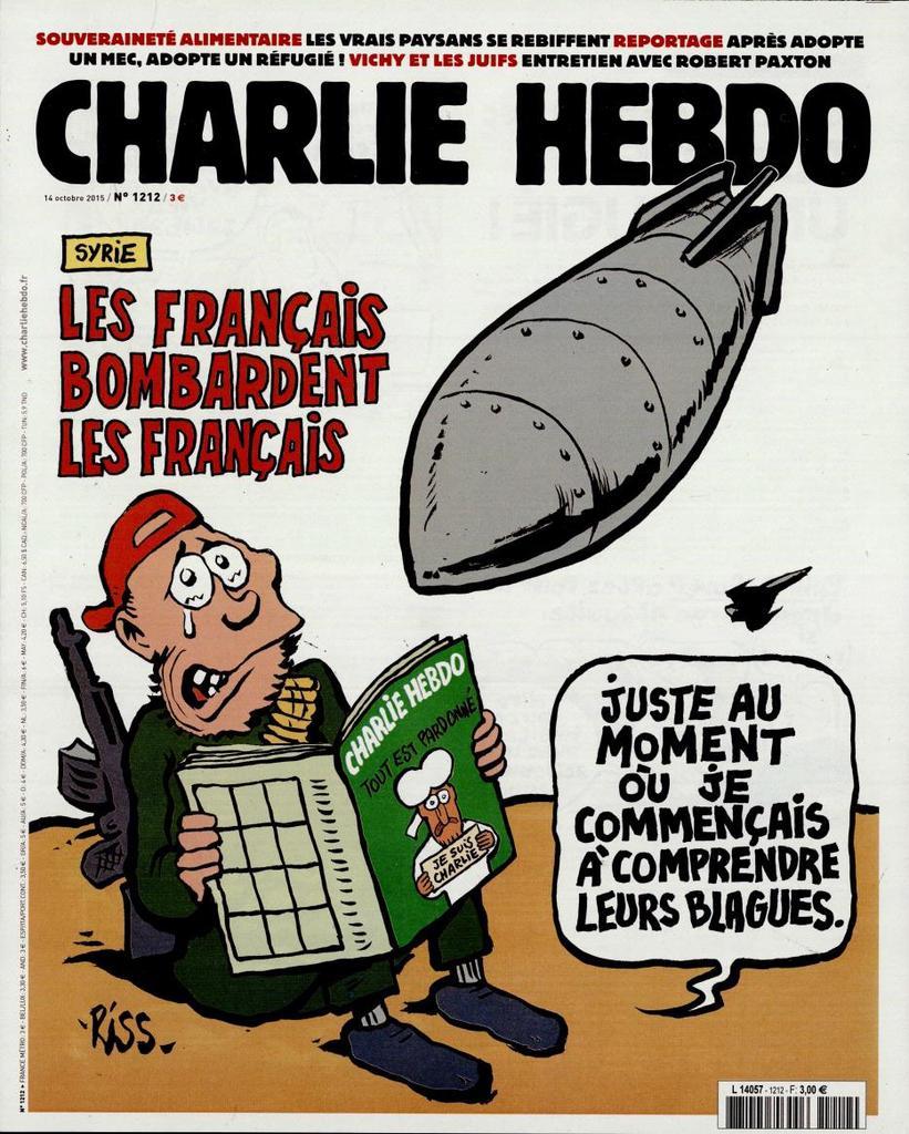 Charlie Hebdo n°1212 --- 14 octobre 2015