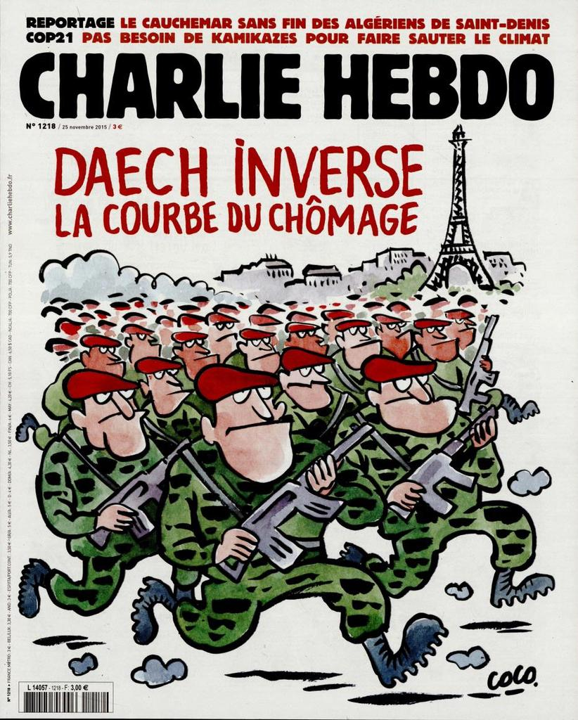 Charlie Hebdo n°1218 --- 25 novembre 2015