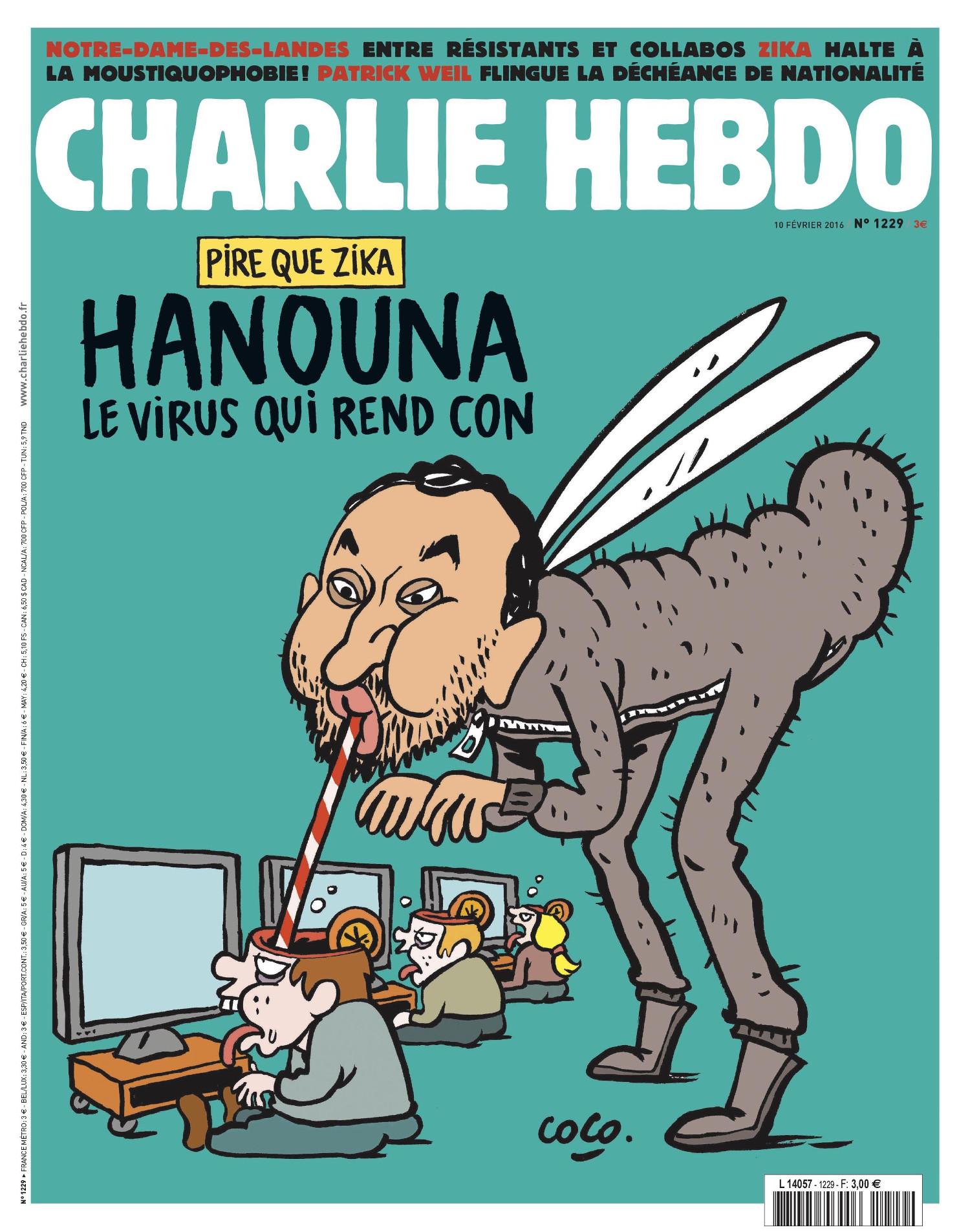 Charlie Hebdo n°1229 --- 10 fevrier 2016