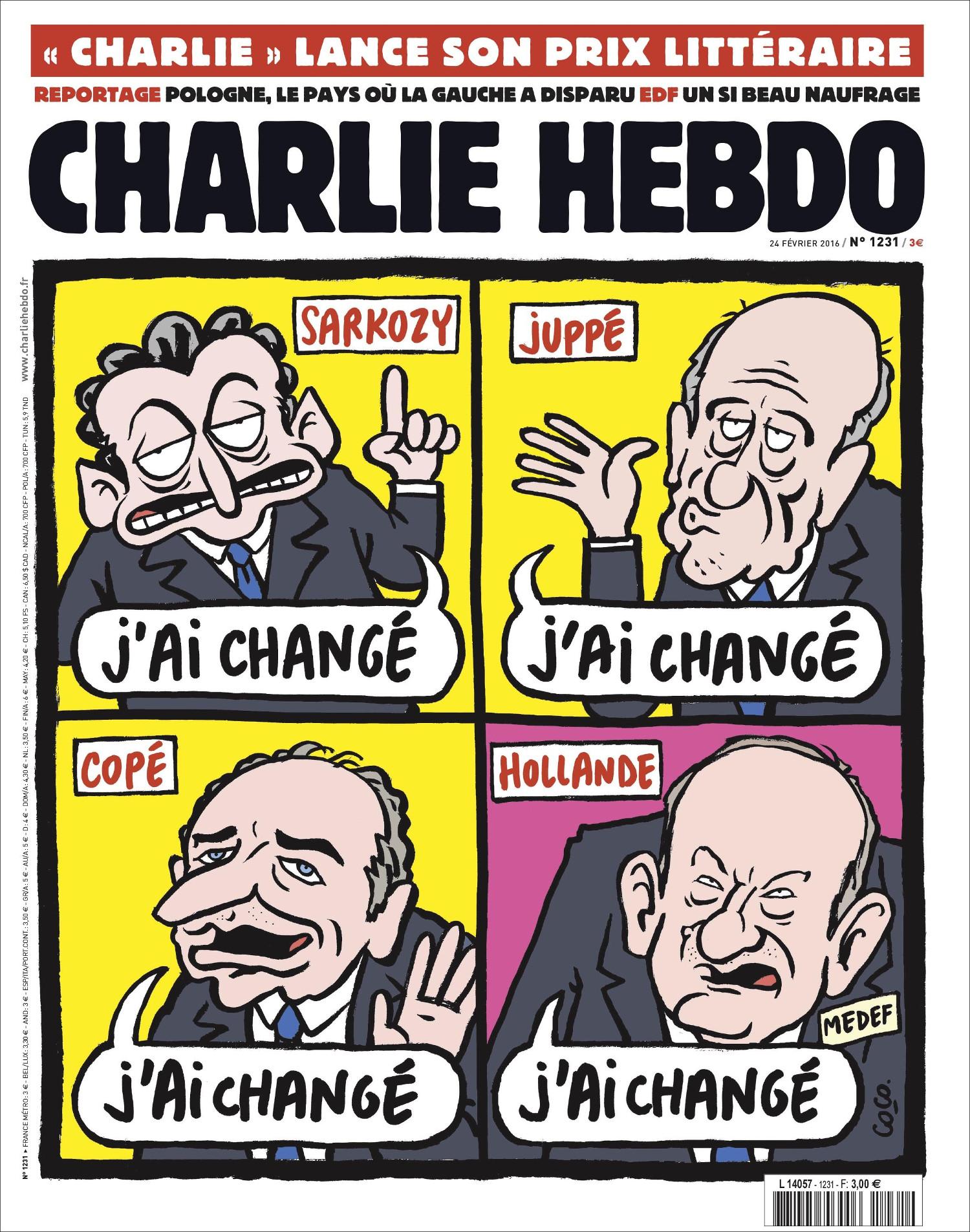 Charlie Hebdo n°1231 --- 24 fevrier 2016