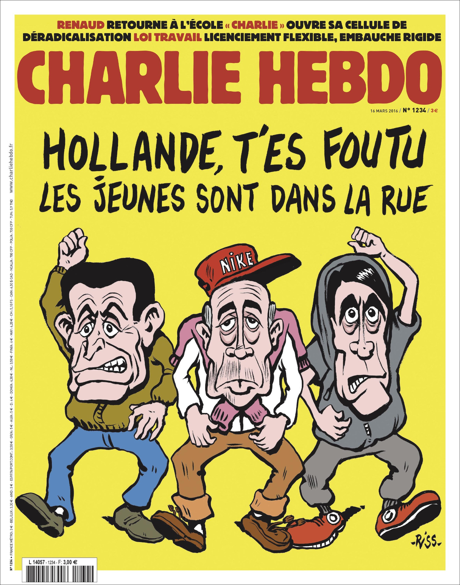 Charlie Hebdo n°1234 --- 16 mars 2016