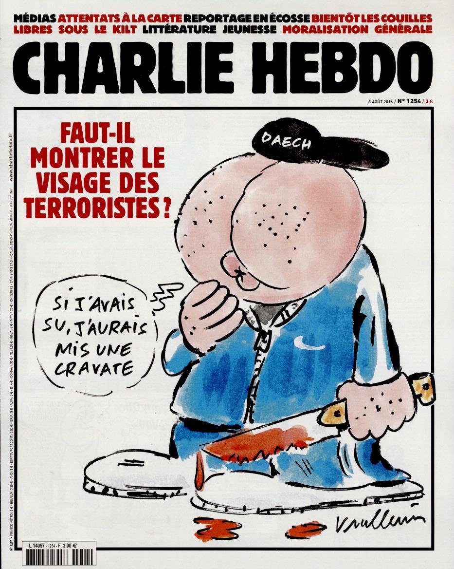 Charlie Hebdo n°1254 --- 3 aout-2016