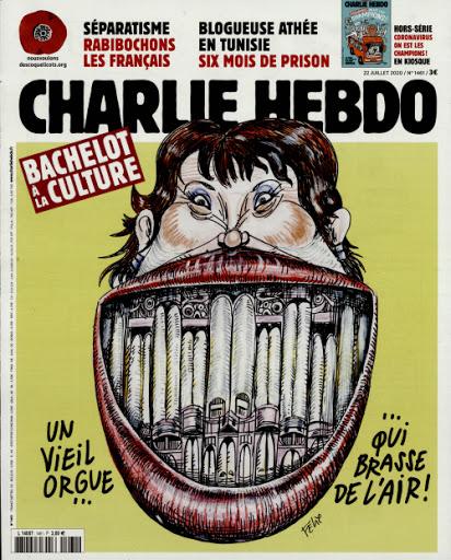 Charlie Hebdo n°1461 -- 27 juillet 2020 --- FÉLIX --- Bachelot à la culture --- Un vieil orgue... qui brasse de l'aire