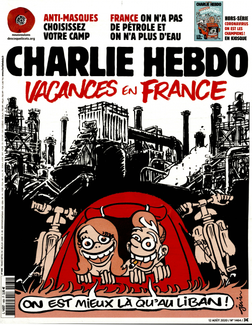 Charlie Hebdo n°1464 -- 12 août  2020 --- JUIN --- Vacances en France