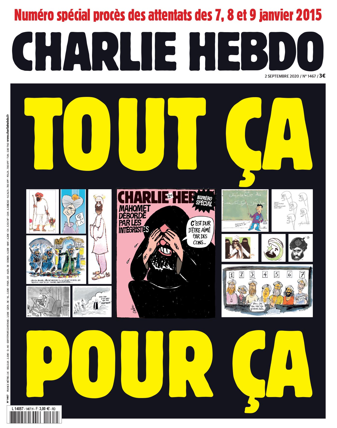 Charlie Hebdo n°1467 -- 2 septembre 2020 --- Tout ça pour ça