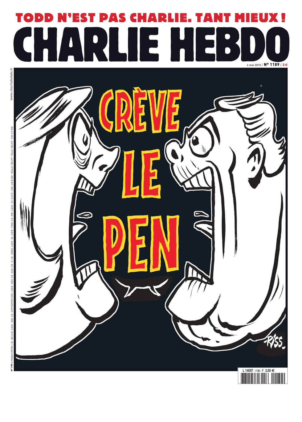 Charlie Hebdo - n°1189 - 6 mai 2015