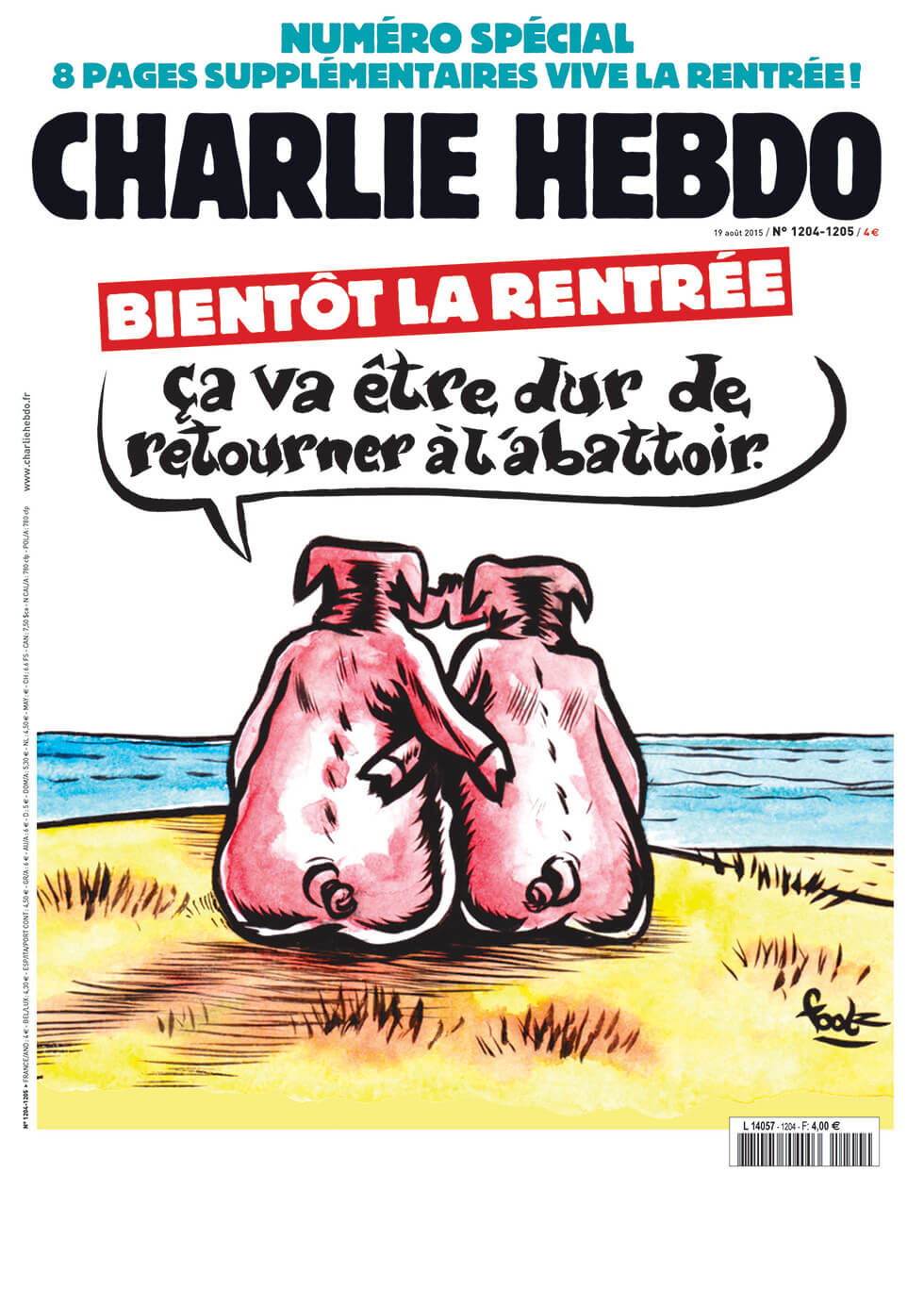 Charlie Hebdo n°1204-1205 --- 18 août 2015
