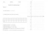 Controle Fonctions Mathematiques Troisieme