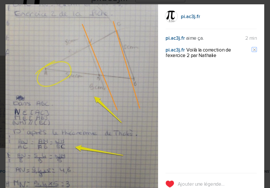 Instagram en classe