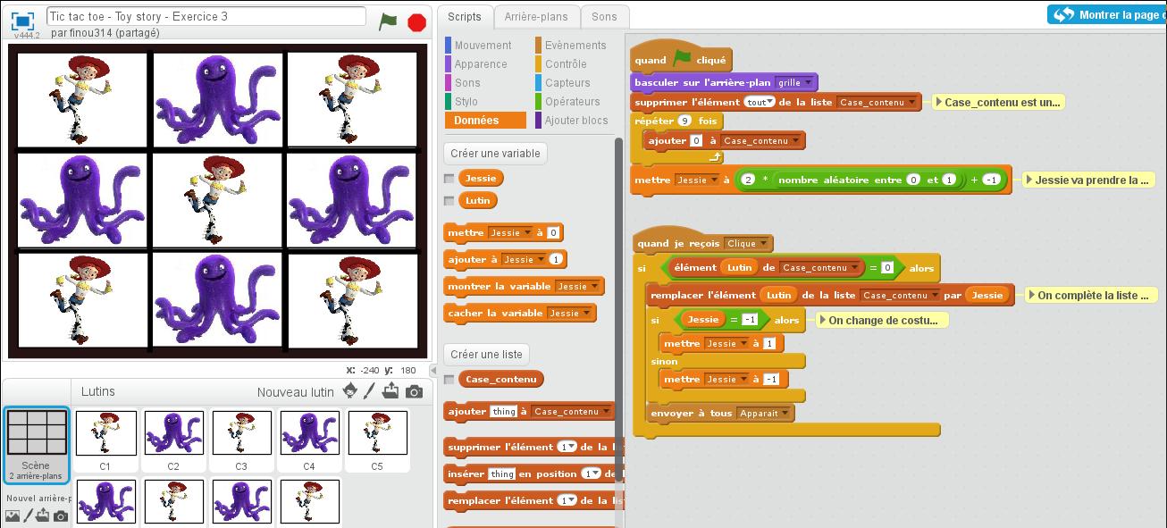 Algorithmique Et Programmation Scratch Et Tic Tac Toe