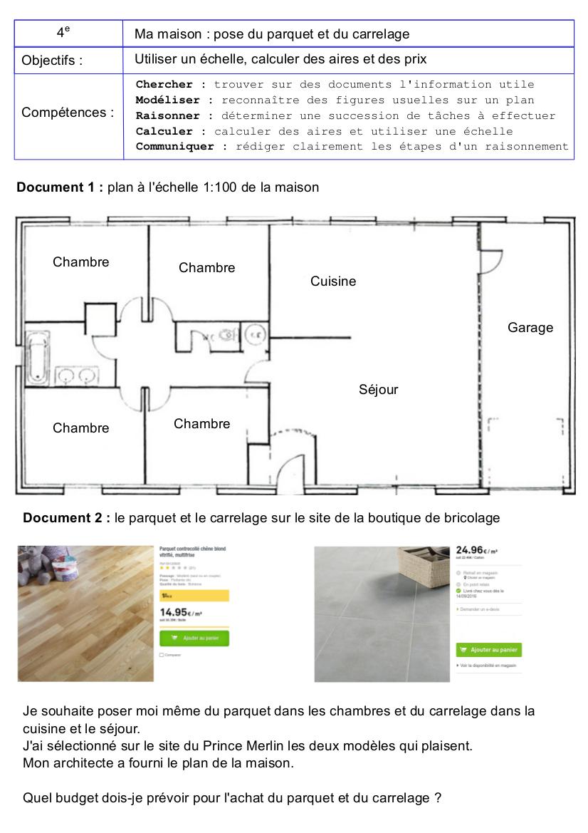 Maison Parquet Ou Carrelage tâche complexe quatrième : parquet et carrelage à la maison